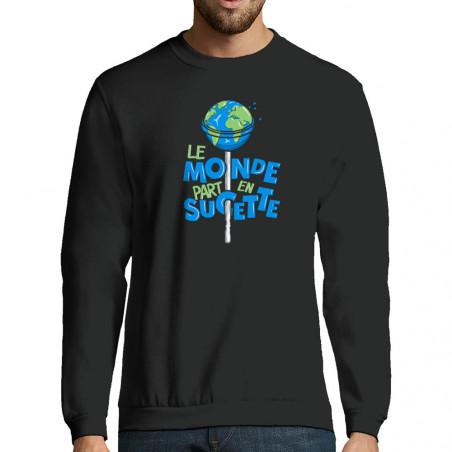 """Sweat-shirt homme """"Le monde..."""