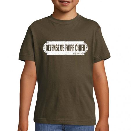 """Tee-shirt enfant """"Défense..."""