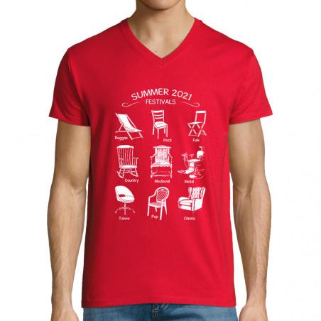 """T-shirt homme col V """"Summer..."""