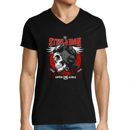 """T-shirt homme col V """"Steel..."""