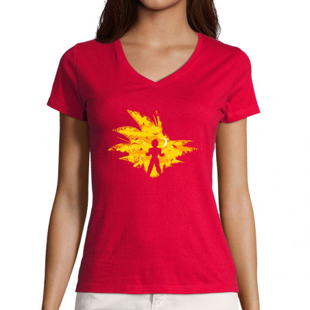 """T-shirt femme col V """"Super..."""
