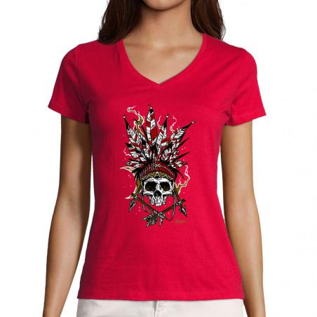 "T-shirt femme col V ""Arrows..."