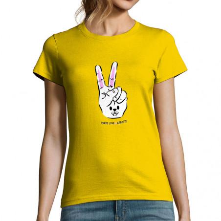 """T-shirt femme """"Peace Love..."""