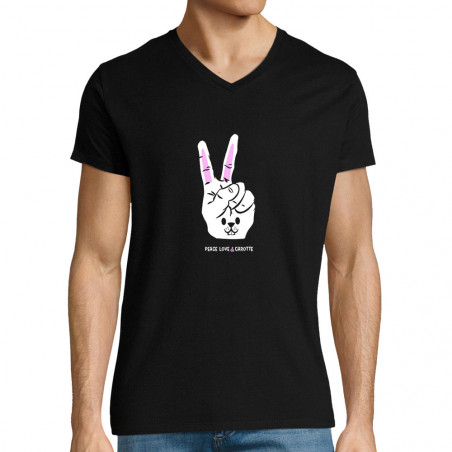 """T-shirt homme col V """"Peace..."""