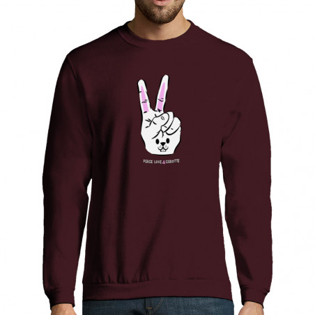 "Sweat-shirt homme ""Peace..."