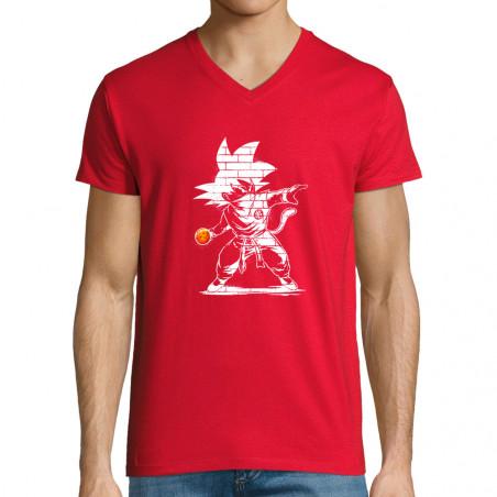"T-shirt homme col V ""Dragon..."