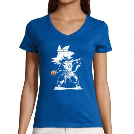 "T-shirt femme col V ""Dragon..."