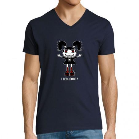 """T-shirt homme col V """"I feel..."""