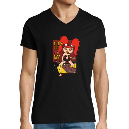 "T-shirt homme col V ""Attack"""