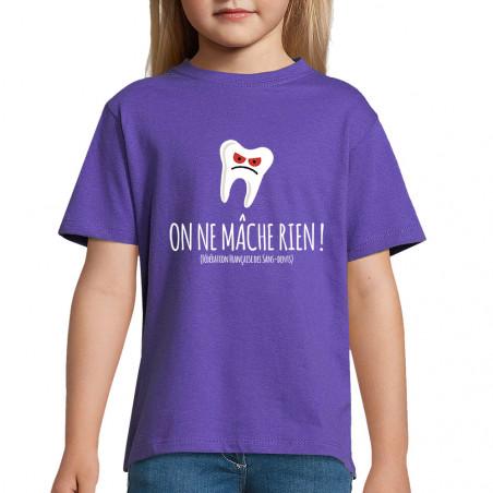 """Tee-shirt enfant """"On ne..."""