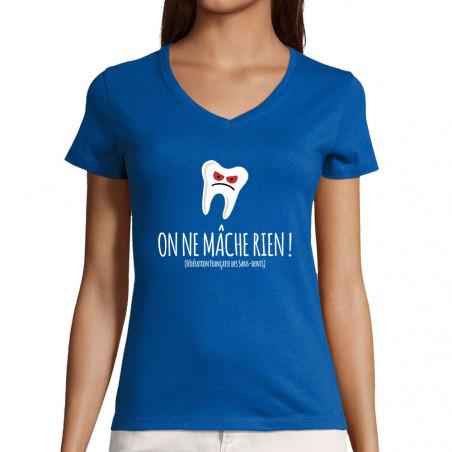 """T-shirt femme col V """"On ne..."""