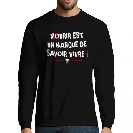 """Sweat-shirt homme """"Mourir"""""""