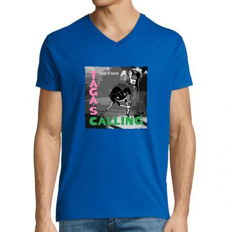 """T-shirt homme col V """"Taga's..."""