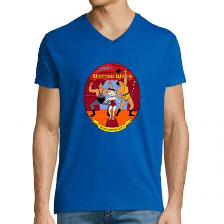 T-shirt homme col V...