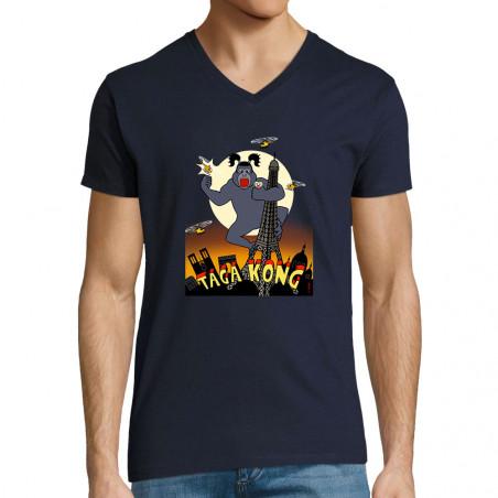 """T-shirt homme col V """"Taga..."""