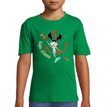 """Tee-shirt enfant """"Taga Sirène"""""""