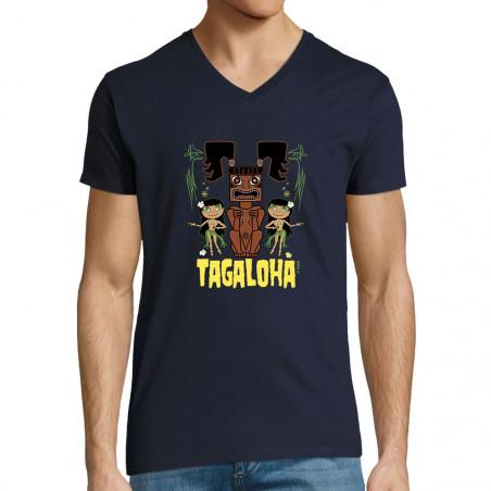 "T-shirt homme col V ""Tagaloha"""