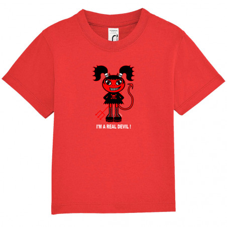 "Tee-shirt bébé ""Real Devil"""