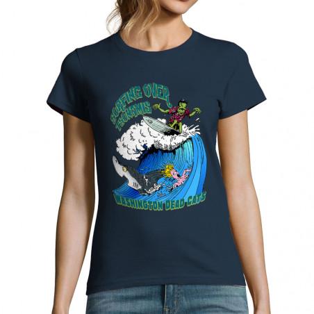 "T-shirt femme ""Surfing Over..."