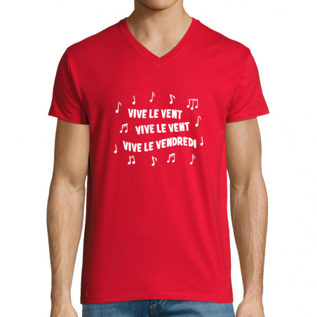 "T-shirt homme col V ""Vive..."