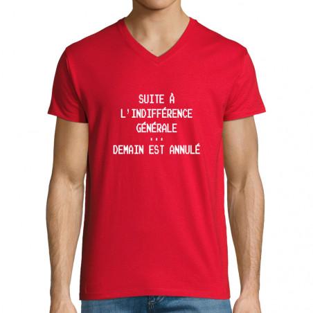 "T-shirt homme col V ""Demain..."