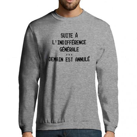 """Sweat-shirt homme """"Demain..."""