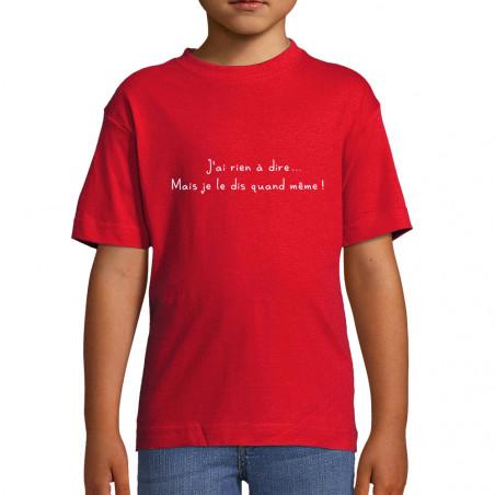 """Tee-shirt enfant """"J'ai rien..."""