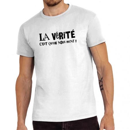 """Tee-shirt homme """"La vérité..."""
