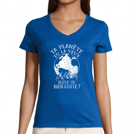 "T-shirt femme col V ""Ta..."