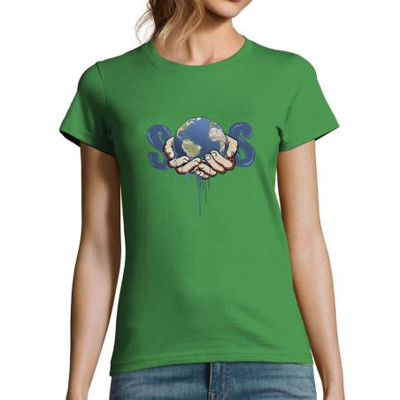 """T-shirt femme """"SOS Planète"""""""