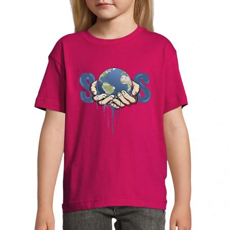 """Tee-shirt enfant """"SOS Planète"""""""