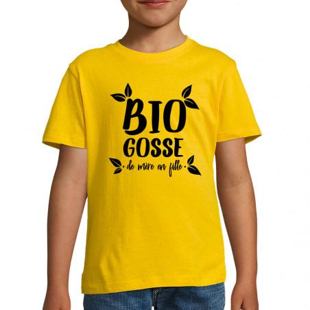 "Tee-shirt enfant ""Bio gosse..."
