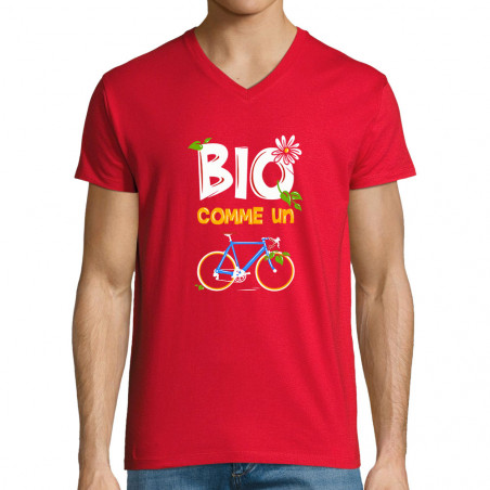 "T-shirt homme col V ""Bio..."