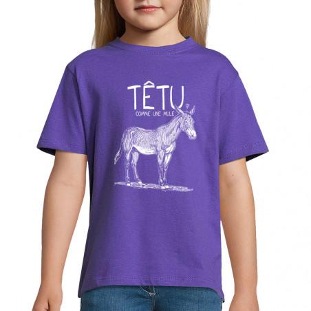 "Tee-shirt enfant ""Têtu..."