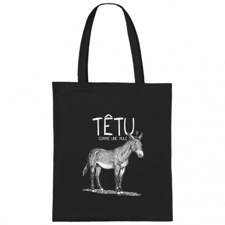 "Sac shopping en toile ""Têtu..."