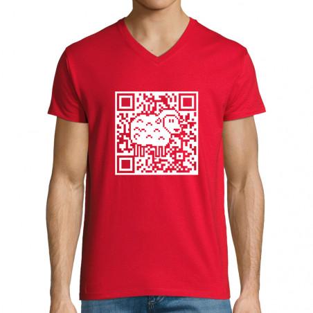 """T-shirt homme col V """"QR..."""