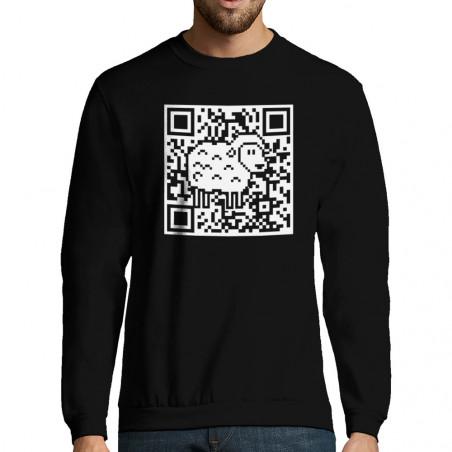 """Sweat-shirt homme """"QR code..."""