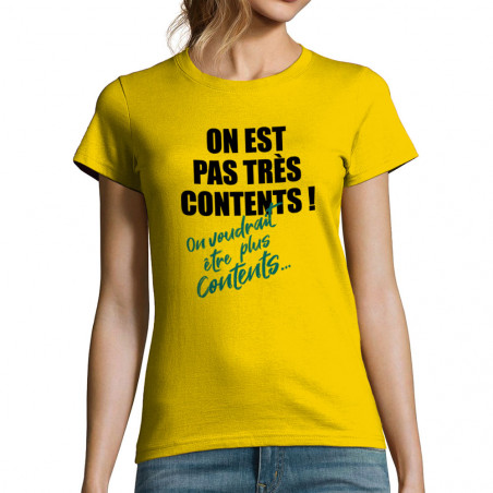 """T-shirt femme """"Pas très..."""