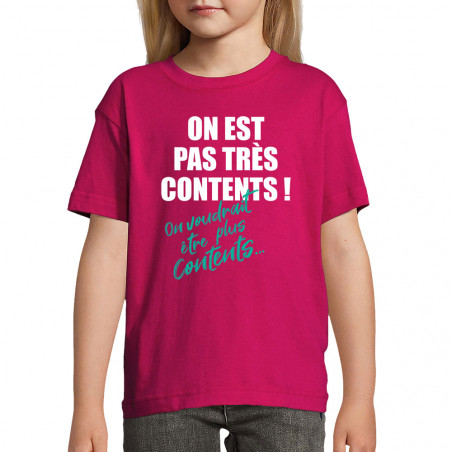 """Tee-shirt enfant """"Pas très..."""
