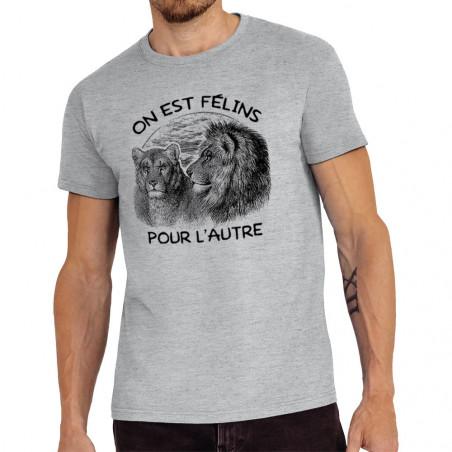 """Tee-shirt homme """"Félins..."""