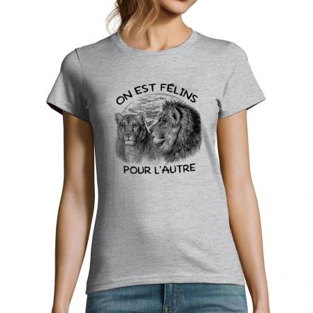 """T-shirt femme """"Félins pour..."""