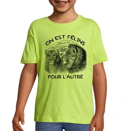 "Tee-shirt enfant ""Félins..."
