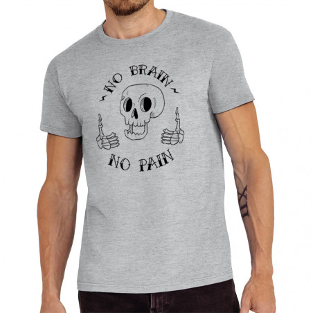 "Tee-shirt homme ""No brain..."