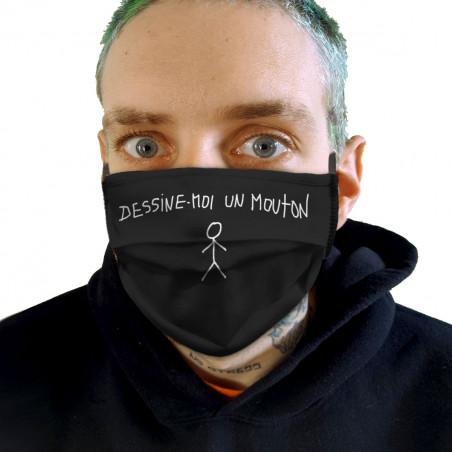 """Masque en tissu """"Dessine..."""