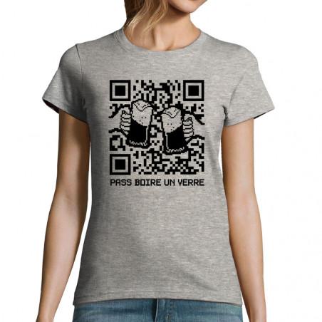 """T-shirt femme """"Pass boire..."""