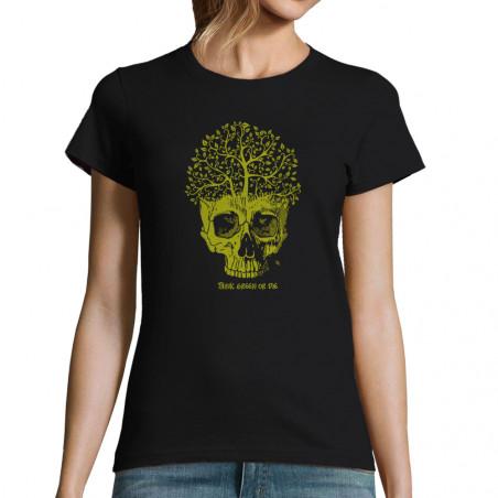 """T-shirt femme """"Think green..."""