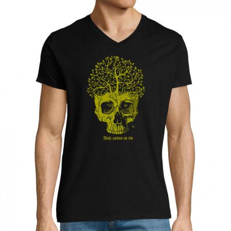 "T-shirt homme col V ""Think..."