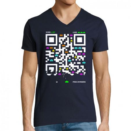 "T-shirt homme col V ""Pass..."