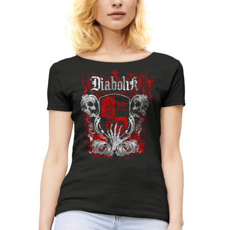 T-shirt femme col large...