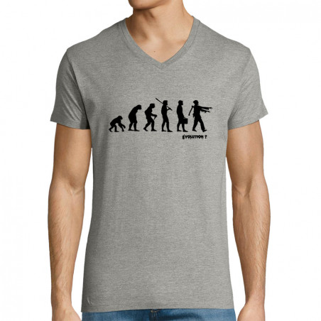 """T-shirt homme col V """"Zombie..."""